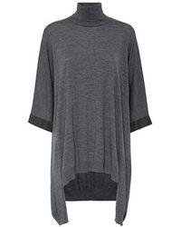 Brunello Cucinelli Poncho-style Sweater - Multicolor