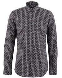 Fendi Multi-logo Cotton Shirt - Black
