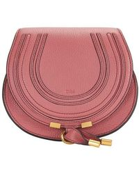 Chloé Kleine Saddle-Tasche Marcie - Pink