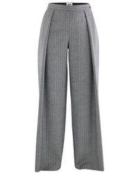 Maison Rabih Kayrouz Pantalon ample - Gris