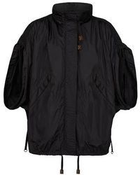 Louis Vuitton Parka With Gathered Sleeves - Black