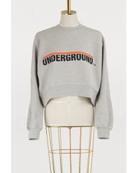 Etudes Studio - Underground Cropped Cotton Sweatshirt - Lyst