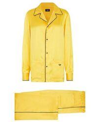 Fendi Silk Pyjamas - Yellow