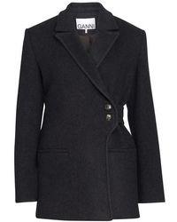 Ganni Wool Jacket - Black