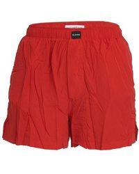 Balenciaga Pyjama Shorts - Red