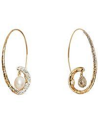 Givenchy Moonlight Pearl Earrings - Metallic