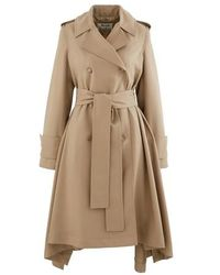 Acne Studios Olwen Trench Coat - Natural