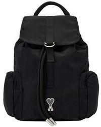 AMI Ami De Coeur Backpack - Black