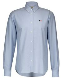 Maison Kitsuné Fox Oxford Shirt - Blue