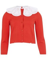 Patou Cardigan With Embroidered Collar