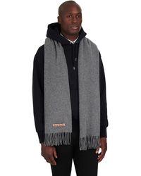 Acne Studios Canada Oversize Wool Scarf - Grey