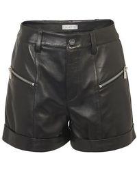 Anine Bing Lia Leather Shorts - Black