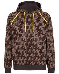 Fendi Sweatshirt Aus Baumwolle - Braun