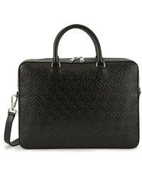 Burberry Ainsworth Leather Laptop Bag - Black