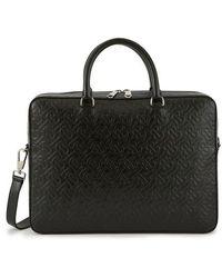 Burberry Ainsworth Leather Laptop Bag - Black