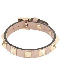 Valentino Garavani Garavani - Bracelet Rockstud en cuir - Multicolore