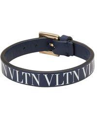 Valentino Gavarani Studded Wallet - Blue