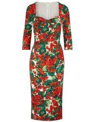 Dolce & Gabbana - Rayon Midi-dress - Lyst