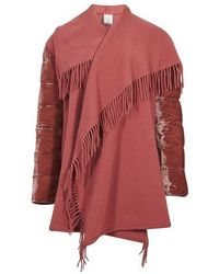 Moncler Wool Cape - Pink