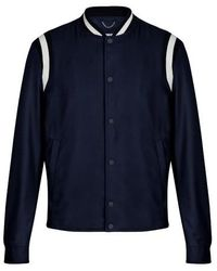 Louis Vuitton Embroidered Varsity Jacket - Blue