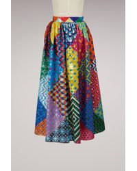 Mary Katrantzou - Egret Printed Skirt - Lyst