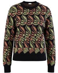 Dries Van Noten Wool And Alpaca Wool Sweatshirt - Black