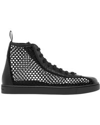 Gianvito Rossi Helena Hight Top Trainers - Black