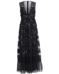 RED Valentino Dress With Sequins - Black
