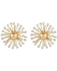 Gas Bijoux Strass Earrings - Metallic