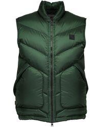 Woolrich Logo Sleeveless Down Jacket - Green