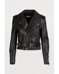 Balenciaga - Veste en cuir Biker - Lyst