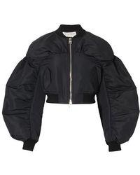 Alexander McQueen Couture Bomber Jacket - Black
