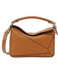 Loewe Small Puzzle Shoulder Bag - Brown