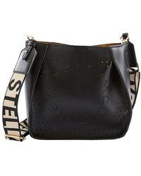 Stella McCartney Mini Stella Logo Cross Body Bag - Black