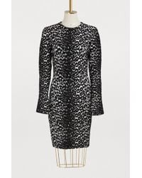 Givenchy - Leopard Jacquard Sweater Dress - Lyst
