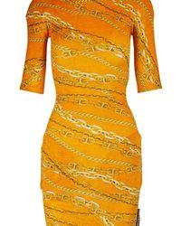 Balenciaga Turtleneck Mini Dress - Orange