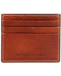 Brunello Cucinelli Calfskin Card Case - Multicolor