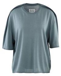 Maison Margiela T-shirt Gauge 18 - Bleu