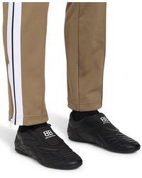 Balenciaga Men's Zen Panelled Faux-leather Slip-on Trainers - Black