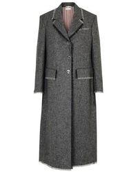Thom Browne Long Coat - Gray
