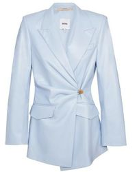 Nanushka Vegan Leather Blair Jacket - Blue