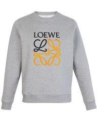Loewe Anagram Round Neck Sweatshirt - Grey