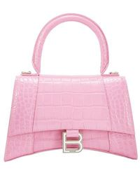 Balenciaga Hourglass XS Top Handle Bag - Pink
