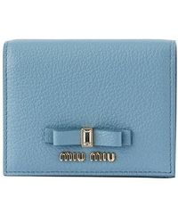 Miu Miu Madras Fiocco Card Holder - Blue
