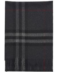 Burberry The Classic Check Cashmere Scarf - Black