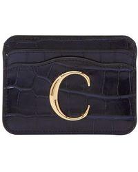 Chloé C Card Holder - Blue