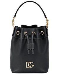 Dolce & Gabbana Dg Millennials Leather Bucket Bag - Black
