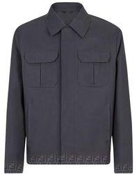 Fendi Gabardine Jacket - Black