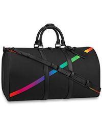 Louis Vuitton Keepall Bandoulière 50 Bag - Black
