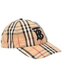 Burberry Casquette de base-ball beige Vintage Check TB - Multicolore